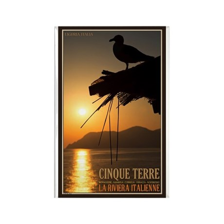 Cinque Terre Sunset Rectangle Magnet (10 pack)