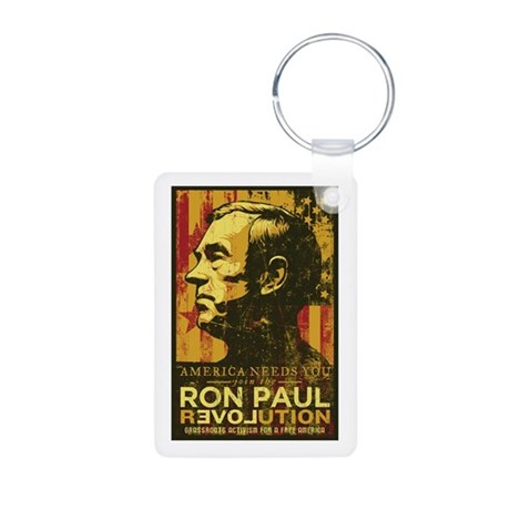 Ron Paul Aluminum Photo Keychain