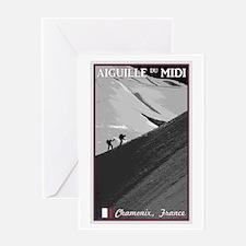 Aiguille du Midi Arete Greeting Card