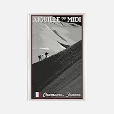 Aiguille du Midi Arete Rectangle Magnet