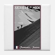 Aiguille du Midi Arete Tile Coaster
