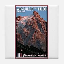 Aiguille du Midi Tile Coaster