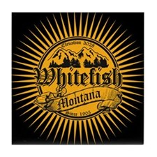 Whitefish Old Gold Tile Coaster
