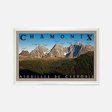 Aiguilles de Chamonix Rectangle Magnet