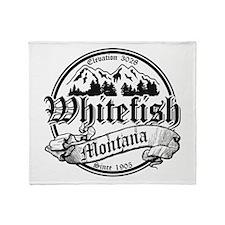 Whitefish Old Black Throw Blanket