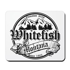 Whitefish Old Black Mousepad