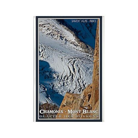 Bossons Crevasses Rectangle Magnet (100 pack)