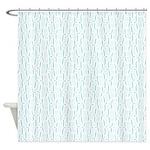 Bracket Blue Shower Curtain