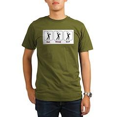Eat Sleep Golf Organic Men's T-Shirt (dark)