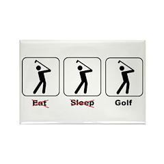 Eat Sleep Golf Rectangle Magnet (10 pack)