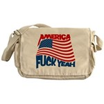 america fuck yeah Messenger Bag