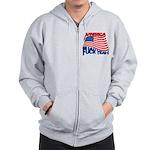 america fuck yeah Zip Hoodie