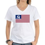 American flag Women's V-Neck T-Shirt
