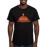 Walking on Sunshine Men's Fitted T-Shirt (dark)