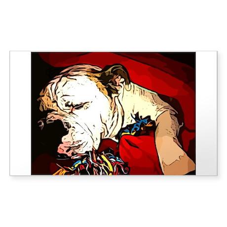 English Bulldog Sticker (Rectangle)