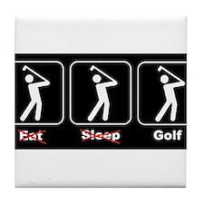 Eat Sleep Golf Tile Coaster