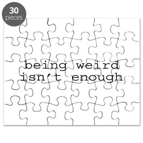 Being Weird Isn't Enough Puzzle