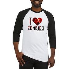 I heart Zombies Baseball Jersey
