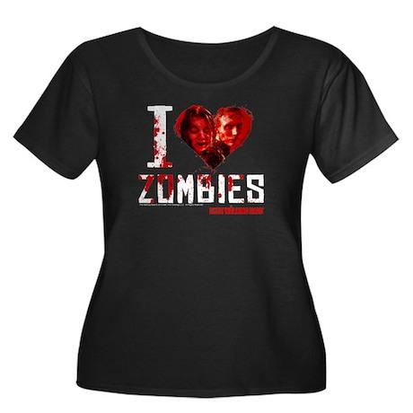 I heart Zombies Women's Plus Size Scoop Neck Tee