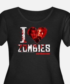 I heart Zombies Women's Plus Size Scoop Neck Tee