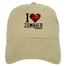 I heart Zombies Baseball Cap
