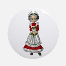 Mrs. Claus Round Christmas Decoration