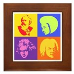 Pop Art Composer Framed Tile
