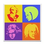 Pop Art Composer Tile Coaster