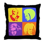 Pop Art Composer Throw Pillow