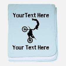 Eat Sleep Jump - Custom Text baby blanket