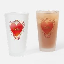 Lola Valentines Drinking Glass