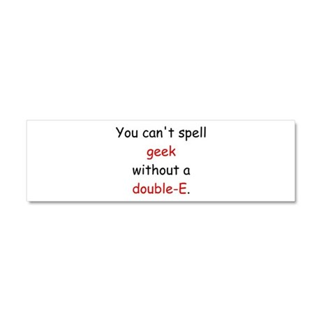 Double-E Car Magnet 10 x 3