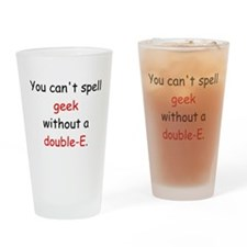 Double-E Drinking Glass
