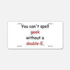Double-E Aluminum License Plate