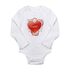 Karla Valentines Long Sleeve Infant Bodysuit
