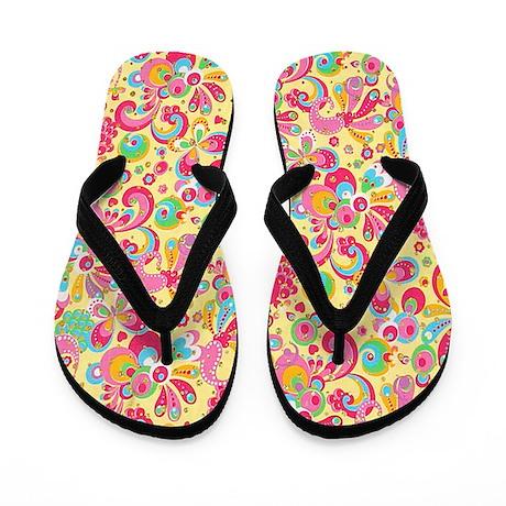 Paisley Flip Flops