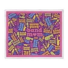 Band Mom Music Throw Blanket
