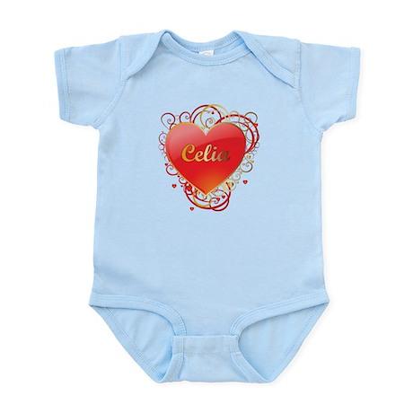 Celia Valentines Infant Bodysuit