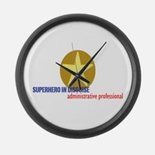 Superhero in disguise Large Wall Clock