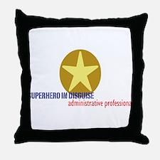 Superhero in disguise Throw Pillow