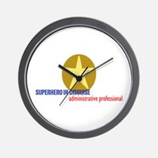 Superhero in disguise Wall Clock