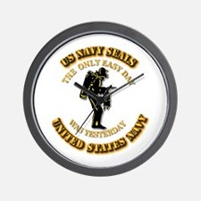 Navy - SOF - The Only Easy Day Wall Clock
