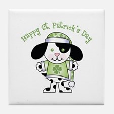 Happy St. Pats Puppy Tile Coaster