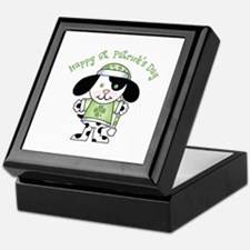 Happy St. Pats Puppy Keepsake Box