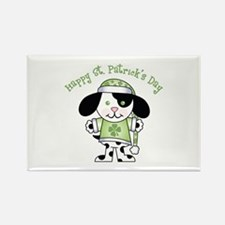 Happy St. Pats Puppy Rectangle Magnet