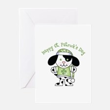 Happy St. Pats Puppy Greeting Card