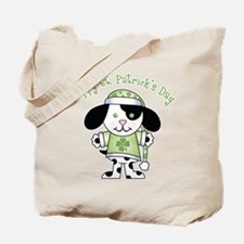 Happy St. Pats Puppy Tote Bag