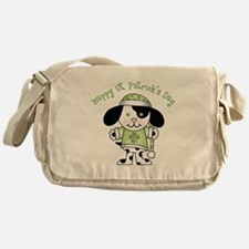 Happy St. Pats Puppy Messenger Bag