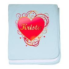 Krista Valentines baby blanket
