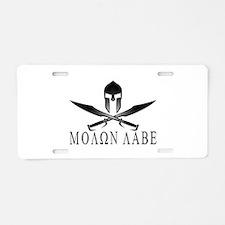 Cute Spartans Aluminum License Plate